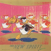 ads: the new spirit (donald duck), [ii.357] by andy warhol